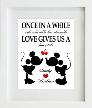 Mickey and Minnie Love Print